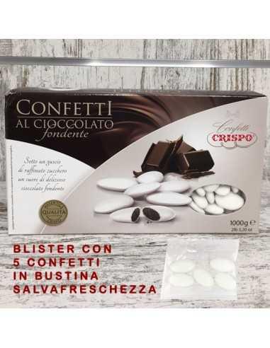 5 CONFETTI IMBUSTATI IN BUSTINE AL CIOCCOLATO - Bomboniere Shop Store