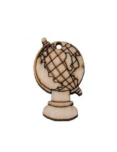 Applicazione mappamondo in legno pezzi 12 BomboniereShopStore