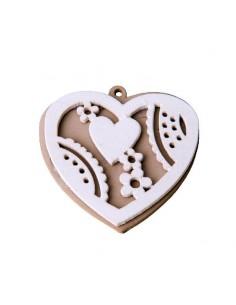 Applicazione in legno cuore pezzi 12 - Bomboniere Shop Store