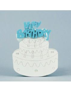 """SCATOLINE PORTACONFETTI TORTA """"HAPPY BIRTHDAY"""" PRIMO COMPLEANNO BIMBO - Bomboniere Shop Store"""
