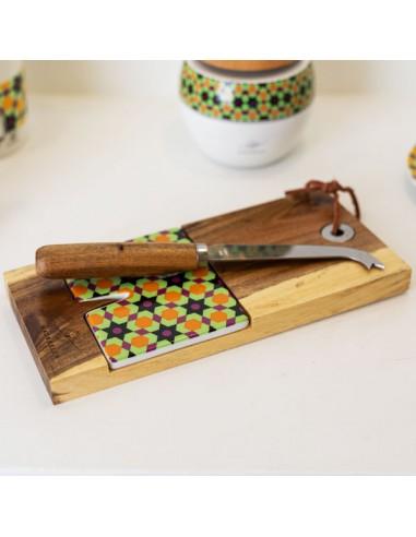 Tagliere in legno con coltellino set formaggio - Bomboniere Shop Store