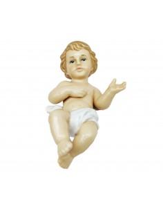 GESU' Bambino BAMBINELLO PRESEPE Statua in Porcellana Navel