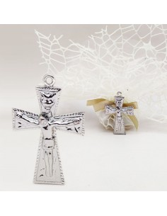 Ciondolo Bomboniere Sacre Crocifisso Segnaposto Matrimonio