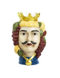 Testa di Moro Ceramica Stile Siciliano con Corona Vaso per Piante da Interno - Bomboniere Shop Store