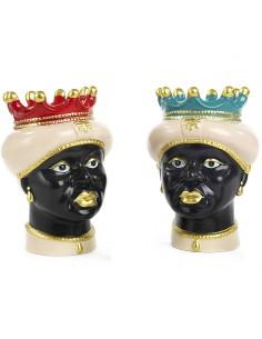 Vaso Testa di Moro Afro Ceramica Siciliana - Bomboniere Shop Store