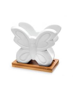 Portatovaglioli Farfalle Bomboniere Matrimonio Porcellana e Legno - Bomboniere Shop Store