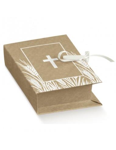 Scatola Portaconfetti Comunione Libro Confettata Comunione - Bomboniere Shop Store