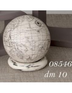 Mappamondo white cerchio cm10