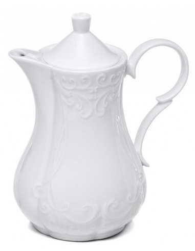 Teiera in porcellana bianca