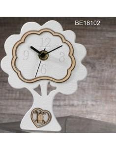 Orologio albero bianco con cuore cresima BomboniereShopStore
