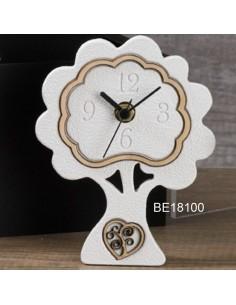 Orologio albero bianco con cuore albero della vita