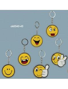 Portachiavi smile 6 soggetti assortiti