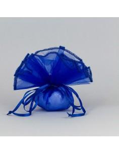 Fazzoletto con tirante velo royal blu - Bomboniere Shop Store