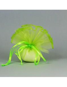 Fazzoletto con tirante velo verde mela BomboniereShopStore