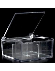 scatola in plex con divisorio 6 pezzi BomboniereShopStore